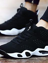 Черный Черный/Красный Черно-белый-Унисекс-Для прогулок Для занятий спортом-Синтетика-На плоской подошвеСпортивная обувь