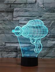 broca elétrica toque escurecimento 3D conduziu a luz da noite 7colorful decoração atmosfera lâmpada de iluminação novidade luz de Natal