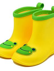 Para Meninos-Botas-Outro Botas de Chuva-Rasteiro-Amarelo Verde-Sintético-Ar-Livre