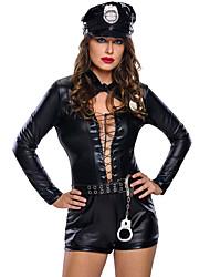 Stylish 6pcs Female Cop Costume