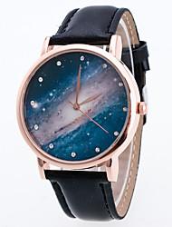 Женские Нарядные часы Модные часы Наручные часы Цветной Кварцевый PU Группа Винтаж Богемные С подвесками Cool ПовседневнаяЧерный Белый