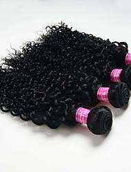 4 Pièces Kinky Curly Tissages de cheveux humains Cheveux Malaisiens 0.2kg 8-30 inch Extensions de cheveux humains