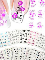50PCS Sticker Manucure  Autocollants de transfert de l'eau Maquillage cosmétique Manucure Design