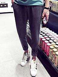 Hommes Droite Shorts Pantalon,simple Décontracté / Quotidien Couleur Pleine Taille Normale Elasticité Polyester Micro-élastique Eté