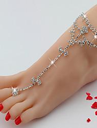 Women's Anklet/Bracelet Rhinestone Alloy Luxury European Jewelry For Wedding Daily