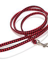 Cães Trelas Retratável / Confeccionada à Mão Sólido Vermelho / Preto / Branco / Rosa / Arco-Íris Pele PU