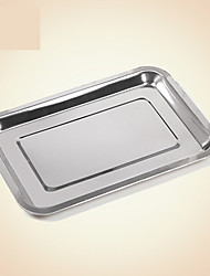 1PC Barbecue Tools Rectangular Stainless Steel Tray Tray Plate Plate Plate Rectangular Grill Medium