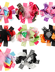 8Pcs/set Baby Girls Feather Hair Clips Todder Hair Accessories Infant Barrette