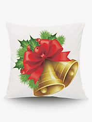 Lovely Golden Bell Series Pillow Bell Pillow Flannel Pillow Material Red Flowers And Green Leaves