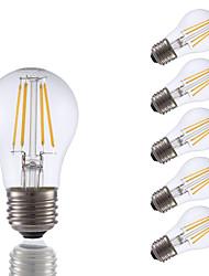 3.5 E26 Lâmpadas de Filamento de LED A15 4 COB 350 lm Branco Quente Regulável AC 110-130 V 6 pçs