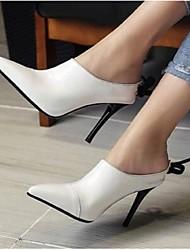 Черный / Белый-Женский-На каждый день-КожаУдобная обувь-Башмаки и босоножки