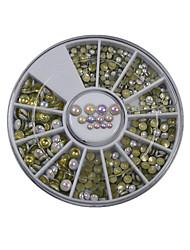 1pcs 6cm Manicure white AB electroplating diamond disc