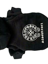 Dog Hoodie Dog Clothes Cute Geometic Black