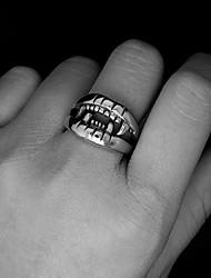 Ringe Party / Alltag / Normal Schmuck Titanstahl Herren Ring 1 Stück,Eine Größe Silber