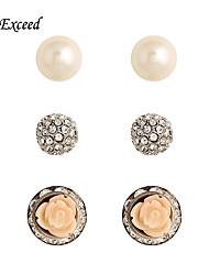 Boucle Cristal / Perle imitée Boucles d'oreille goujon Bijoux Femme Halloween / Soirée / Quotidien / DécontractéCristal / Alliage /