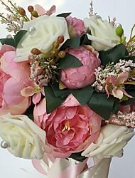 Fleurs de mariage Rond Roses Pivoines Bouquets Mariage La Fête / soirée Satin Mousse Env.25cm