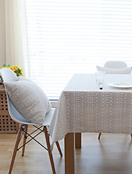 Square Patterned Table Cloth , Linen Material Hotel Dining Table / Table Decoration