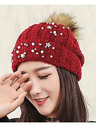 Bonnet / Crochet Automne / Hiver Décontracté Tricots Femme