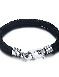 Men's  Bracelets Loom Bracelet Jewelry  Number Six Christmas/Sports/Outdoor/Casual/Birthday/Daily Fashion Nylon/Stainless Steel White-Black 1pc Gift
