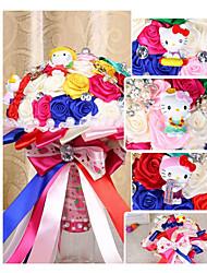 Fleurs de mariage Rond Roses Bouquets Le Party / soirée Satin 50cm