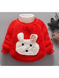Girl Casual/Daily Animal Print Sweater & Cardigan,Cotton Winter / Fall Long Sleeve Short
