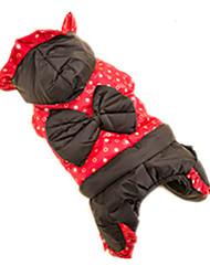 Gato Cachorro Casacos Roupas para Cães Fofo Corações Vermelho