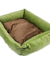 Dog Bed Pet Mats & Pads Casual/Daily Green / Blue / Pink / Khaki Fabric