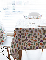 Square Patterned / Animal Table Cloth , Linen Material Hotel Dining Table / Table Decoration