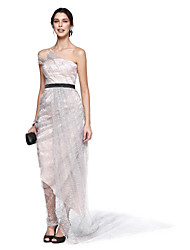 TS Couture Cocktail Party Prom Dress - Ivanka Style Celebrity Style A-line Strapless Ankle-length Lace Satin Sequined withPick Up Skirt