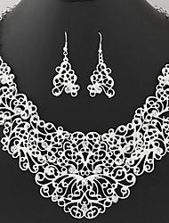 Schmuck 1 Halskette / 1 Paar Ohrringe Strass Party / Alltag 1 Set Damen Goldfarben / Silber Hochzeitsgeschenke