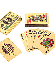 24k Gold Plated Franklin Playing Poker Cards Plastic Cards