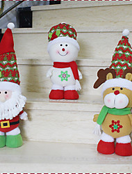 1PC Random Hot Sale Christmas Decoration Santa Claus Snowman Christmas Figurines