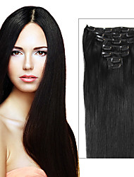 Brazilian Hair Clip In Extensions 70g-120g Clip In Brazilian Hair Extensions Clip In Human Hair Extensions