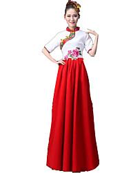 Ropa de Fiesta Cosplay Festival/Celebración Traje de Halloween Rojo Un Color Top / Falda / Más Accesorios Mujer