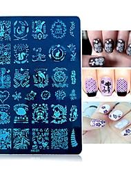 1шт ногтей шаблон печати пластины печати ногтей печати квадратной стальной плиты серии Йк