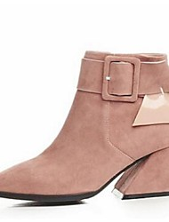 2016 Winter new Korean female short boots matte leather low-heeled boots side zipper boots thick with bare