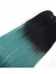 Омбре Бразильские волосы Прямые 12 месяцев 1 шт. волосы ткет
