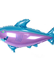 Balloons Holiday Supplies Fish Aluminium Purple For Boys / For Girls 5 to 7 Years / 8 to 13 Years