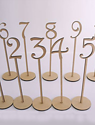 Wooden wedding supplies the number 1 to 10 seats card wedding ramadhin furnishing articles