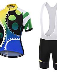 Esportivo Camisa com Bermuda Bretelle Unissexo Manga Curta MotoRespirável / Secagem Rápida / Á Prova-de-Pó / Vestível / Bolso Traseiro /