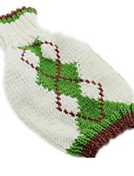 Cane Maglioni Abbigliamento per cani Casual Geometrico Verde