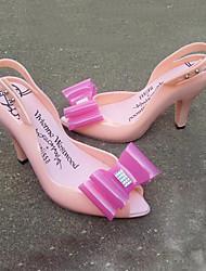 Damen-Sandalen-Kleid / Lässig-PVC-Blockabsatz-Others / Komfort-Schwarz / Blau / Rosa / Beige