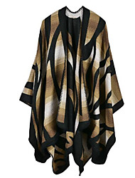 Women Faux Fur Scarf,Casual RectangleGeometric
