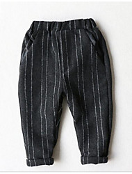 Boy Casual/Daily Striped Pants-Cotton Winter