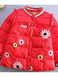 Girl Casual/Daily Print Down & Cotton Padded,Cotton Winter / Fall