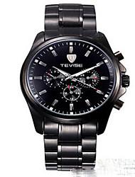 TEVISE Men's / Women's / Couple's Fashion Watch / Mechanical Watch Quartz Calendar / Water Resistant/Water Proof / Luminous Alloy BandVintage /