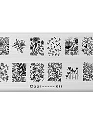 nail art image de timbre plaque d'estampage modèle série fraîche