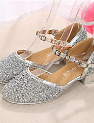 Customizable Kids' Dance Shoes Paillette Paillette Modern Heels Low Heel Indoor / Performance Silver / Gold / Fuchsia