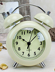 Alarm Clock with Matel Case Modern Style In Black Color
