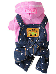 Dog Jeans / Harness Blue / Pink Dog Clothes Winter / Spring/Fall Jeans Keep Warm